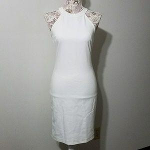 Cache white sheath dress